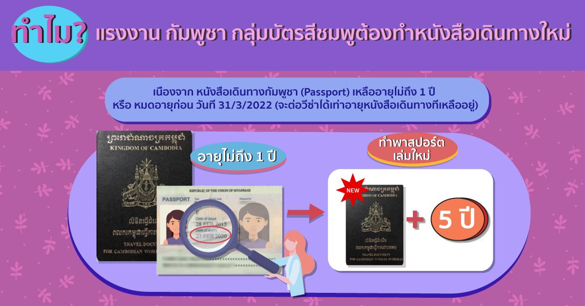 ทำไม? แรงงานกัมพูชา กลุ่มบัตรสีชมพู ต้องทำหนังสือเดินทางใหม่ 3